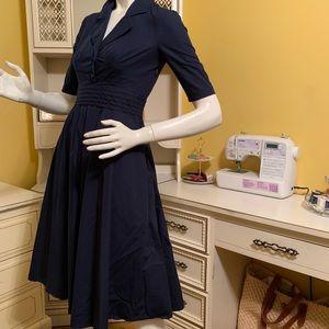 eShakti navy blue dress.